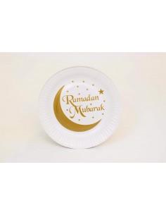 Assiettes Ramadan Mubarak