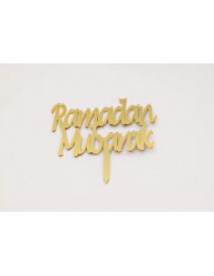 Cake Topper Ramadan Mubarak...