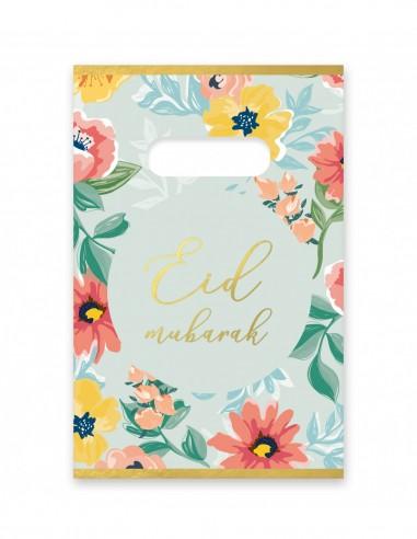 Sacs de bonbons Eid Mubarak Fleurs 6PCS
