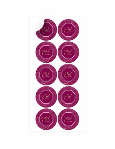 Stickers Eid mubarak Violet
