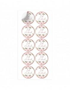 Stickers Eid mubarak Or Rose