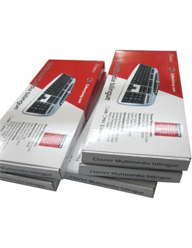 Clavier USB Multimédia AZERTY...